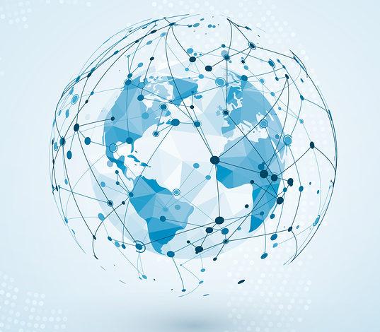 globe terrestre parcouru de réseaux